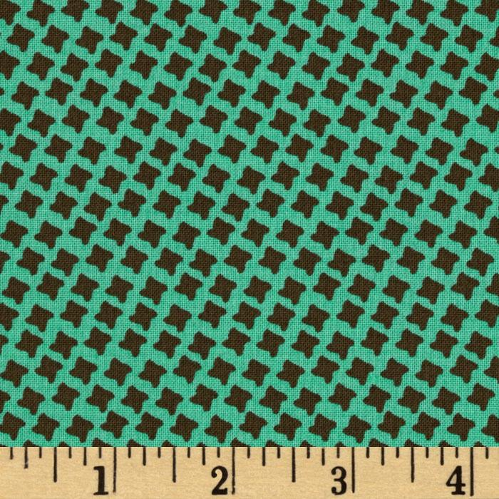 Chelsea Crosshatch Turquoise