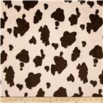 Minky Cuddle Cow Brown/Beige
