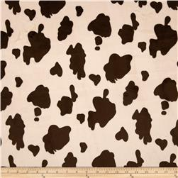 Minky Cow Brown/Beige