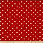 Ho Ho Holiday Christmas Dots Red