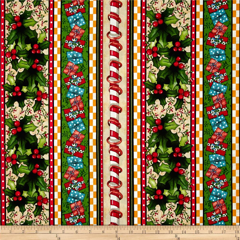 12 Days Of Christmas Repeating Stripe Red/Green