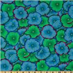 Kaffe Fassett Collective 2012 Picotte Poppies Turquoise
