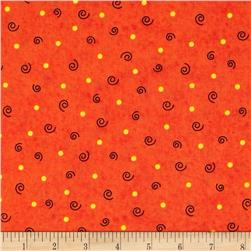 Tricks And Treats Dots & Swirl Orange