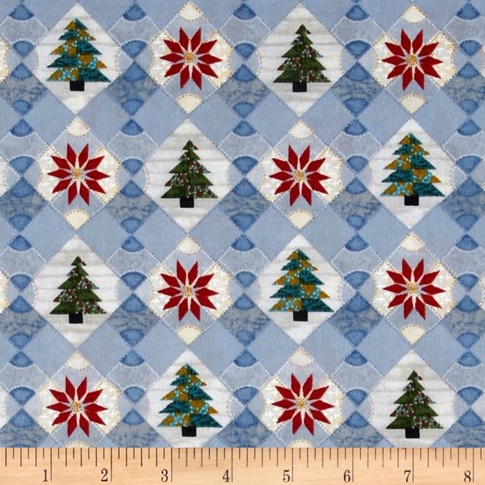Christmas Quilts Trees & Poinsetta