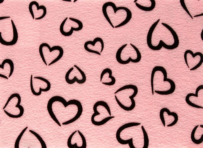 "Fanci Felt 9 x 12"" Craft Cut Princess Heart Baby Pink"