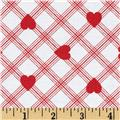 Tanya Whelan Valentine Rose Plaid Hearts Red