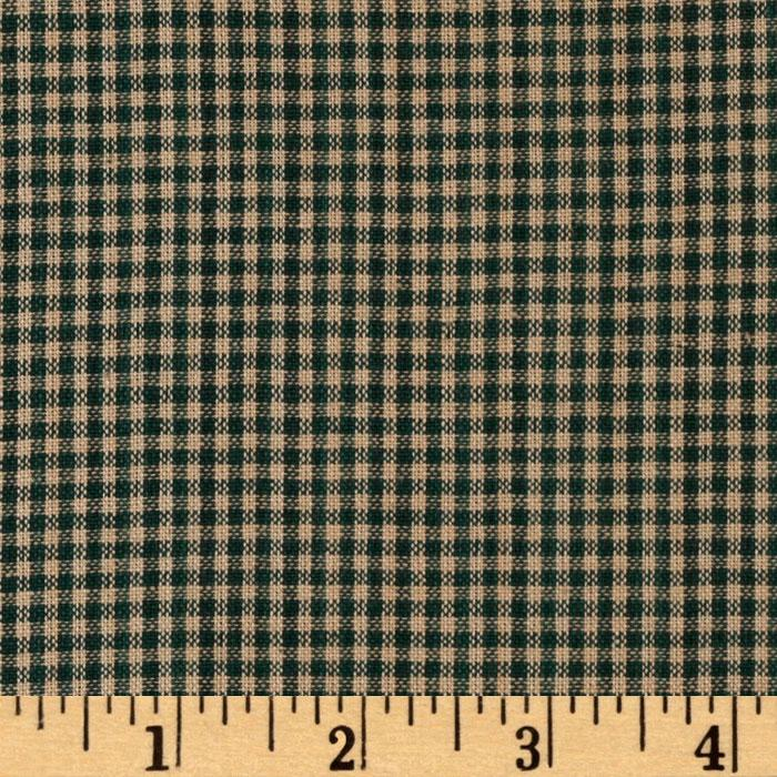 Homespun Basics 1/8&#39;&#39; Check Green/Natural