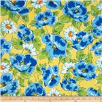 211340 Michael Miller Poppy Love Peppy Poppy Blue