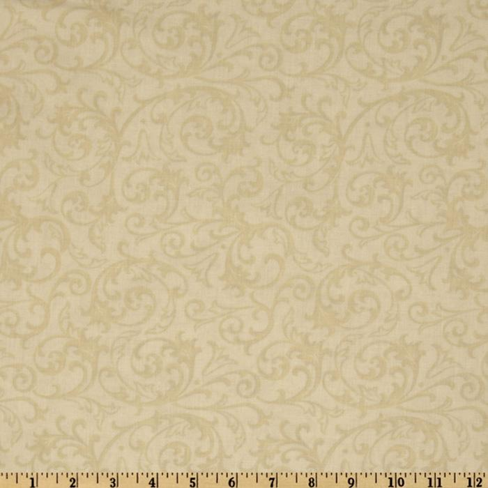 Baroque 108&quot; Quilt Backing Flourish Cream