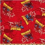 Spiderman Spider Badge Red