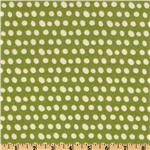 FC-610 Pretty Paisley Flannel Dots Pear Green
