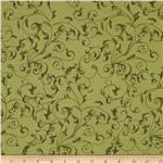 110&quot; Wide Quilt Backing Flourish Sage