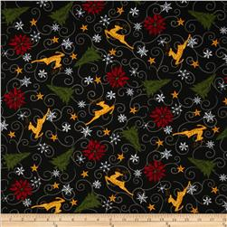 Moda Christmas Countdown Holiday All-Over Midnight Black