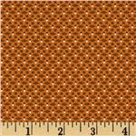 0291974 108'' Wide Bonnie Blue Basics Quilt Backing Floral Lattice Orange