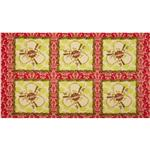 Star Flakes And Glitter Polar Bear Express Panel Red