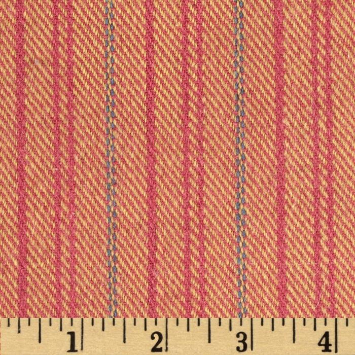 Wool Blend Coating Line Stripes Pink/Multi