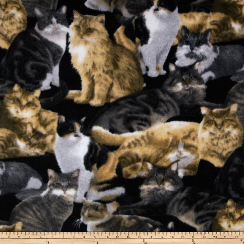 Fleece Allover Cats Black/Multi