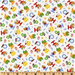 UN-157 Nursery Time II Tossed Alphabet White