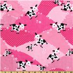 ER-058 Minky Cuddle Moo Moo Blossom Pink