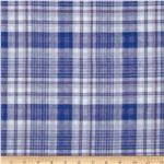 Michael Stars Designer Knit Plaid Blue/White/Purple