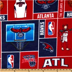 NBA Fleece Atlanta Hawks Blocks Red