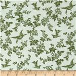 Juliette's Garden Birds and Blooms Verona Apple Green