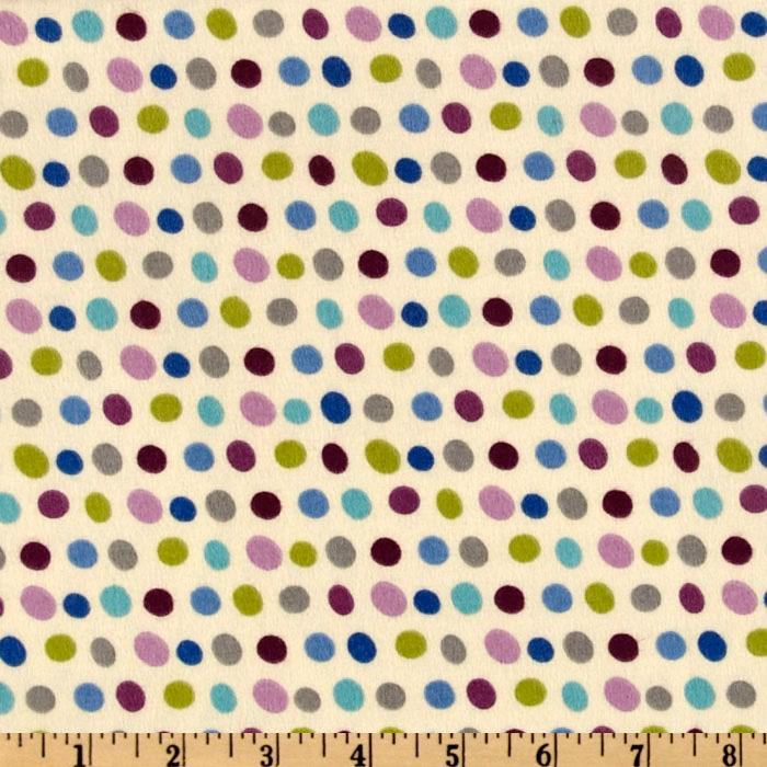 Pretty Paisley Flannel Dots Garden Cream