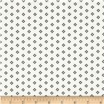 0280762 Designer Stretch Brushed Twill Dots Black/White