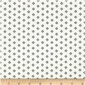 Designer Stretch Brushed Twill Dots Black/White