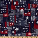 UN-177 Patriotic Patchwork Blue