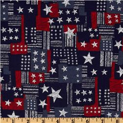 Patriotic Patchwork Blue