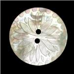 Genuine Shell Button 1 1/8'' Laser Petals  Natural