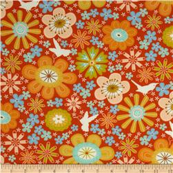 Moda Wrens & Friends Floral Tangerine