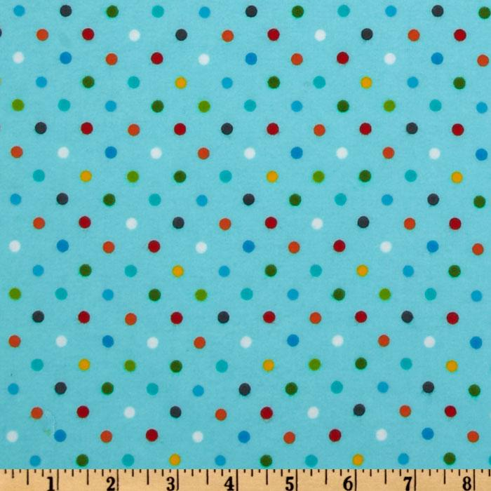 Bonny Bloom Flannel Dots Aqua