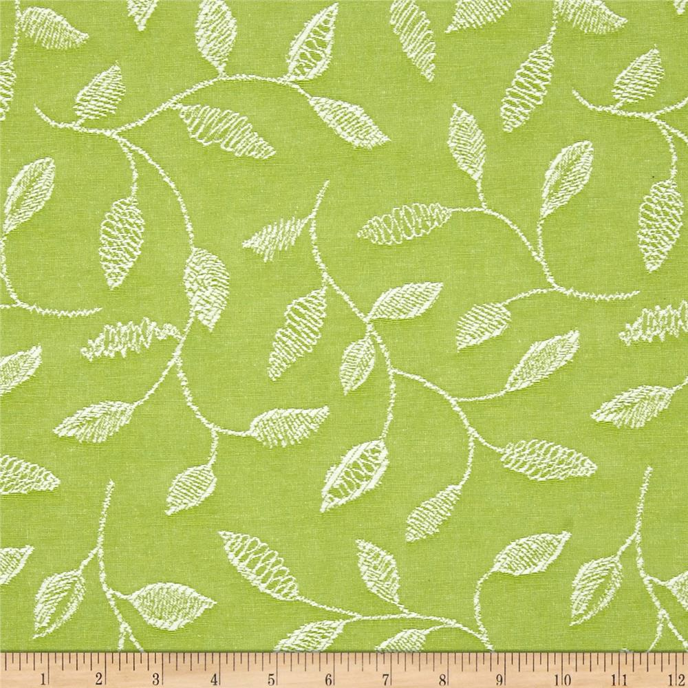Covington Embroidered Sabrina Island Green