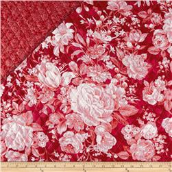 Roses are Red Double Sided Quilted Roses & Paisley Red