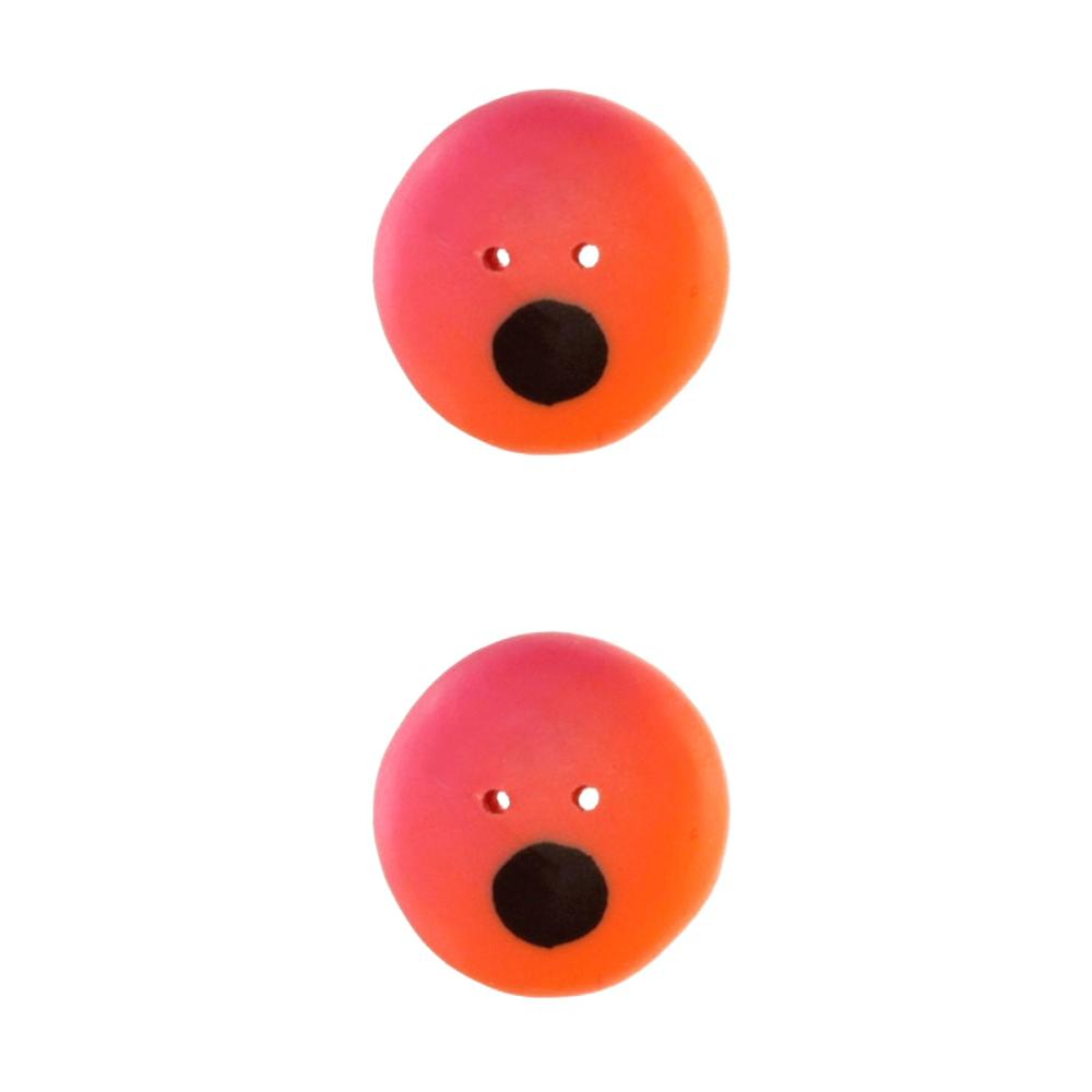 Novelty Button 3/4'' Googley Eyes Pink/Orange