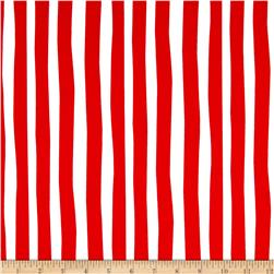 Celebrate Seuss Flannel Stripe Ruby