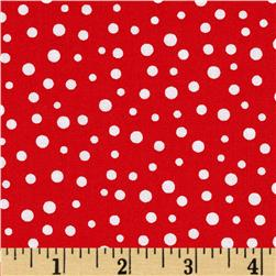 Susybee Christmas Snow Dots White/Red