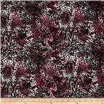 Stretch ITY Jersey Knit Animal Print Merlot