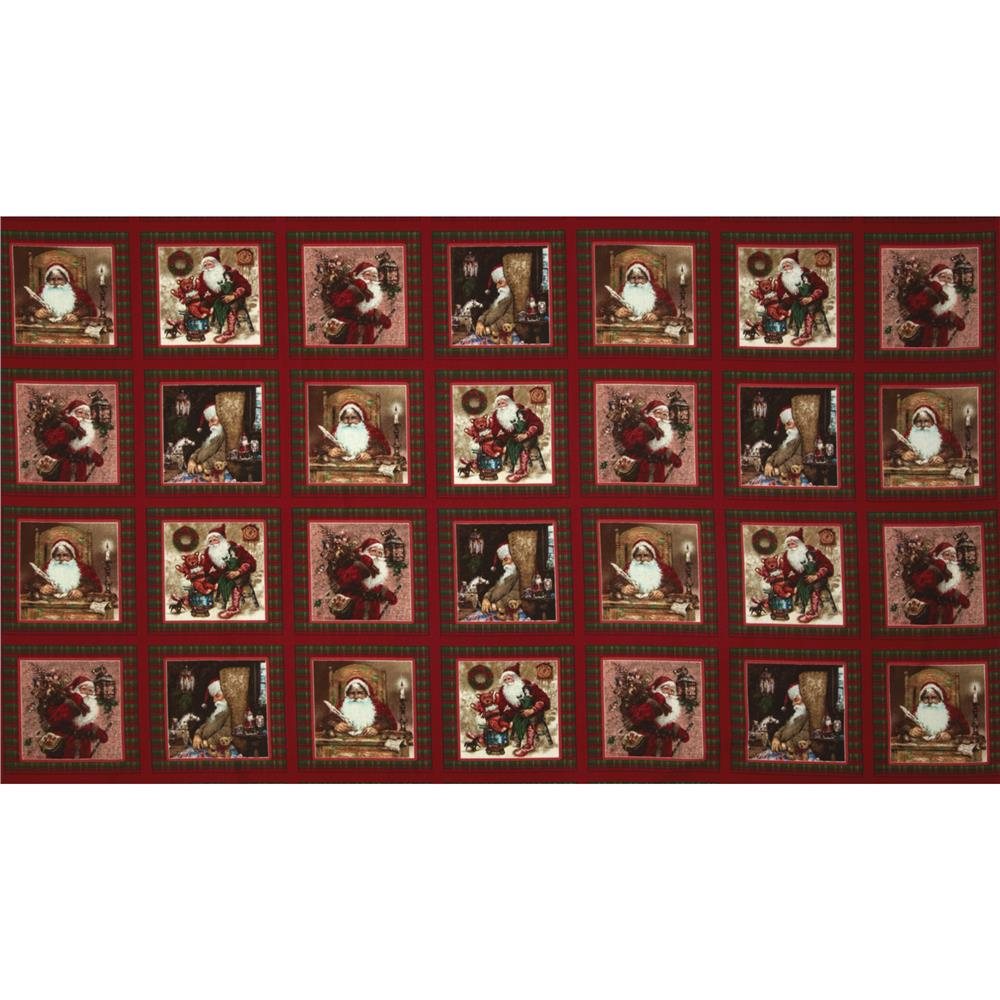 A Day In The Life of Santa Santa Squares Red