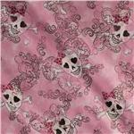 Glam Skulls Glitter Pink
