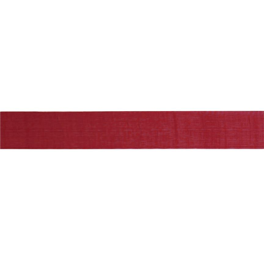 1'' Sheer Organza Ribbon Burgundy
