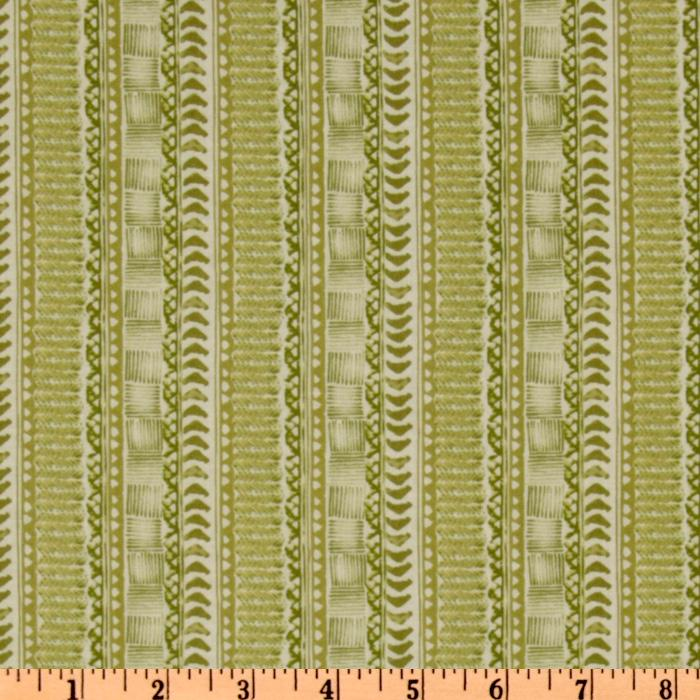 The Aloha Quilt Tribal Stripe Green