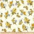 Loralie Flower Stripe White/Yellow