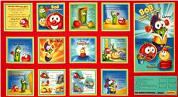 Veggie Tales Helping Hands Soft Book Panel Red