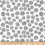 "200167 110"" Wide Quilt Backing Swirl Black/White"