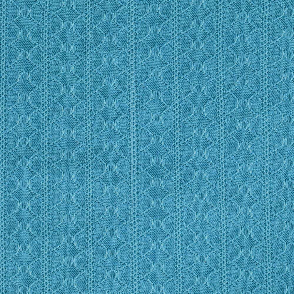 Designer Stretch Pointelle Knit Aqua