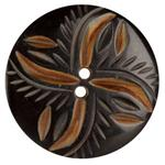 Genuine Horn Button 1 3/4&#39;&#39; Lina Black