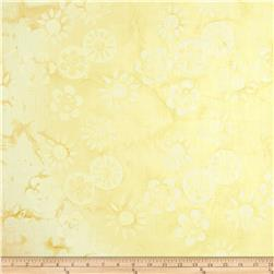 Tonga Batiks Lace Daisy Stamp Pale Cream